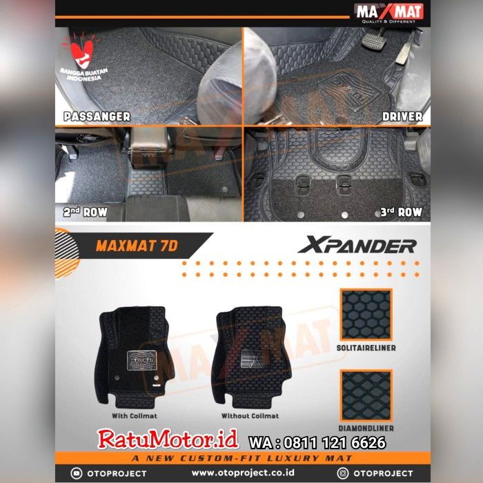 Karpet Mangkok MAXMAT 7D Mits XPANDER 2019 Full Bagasi - Bukan 5D 3D