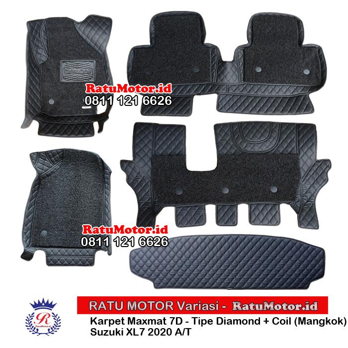 Karpet Mangkok MAXMAT 7D Suzuki XL7 2020 A/T Full Bagasi - Bukan 5D 3D