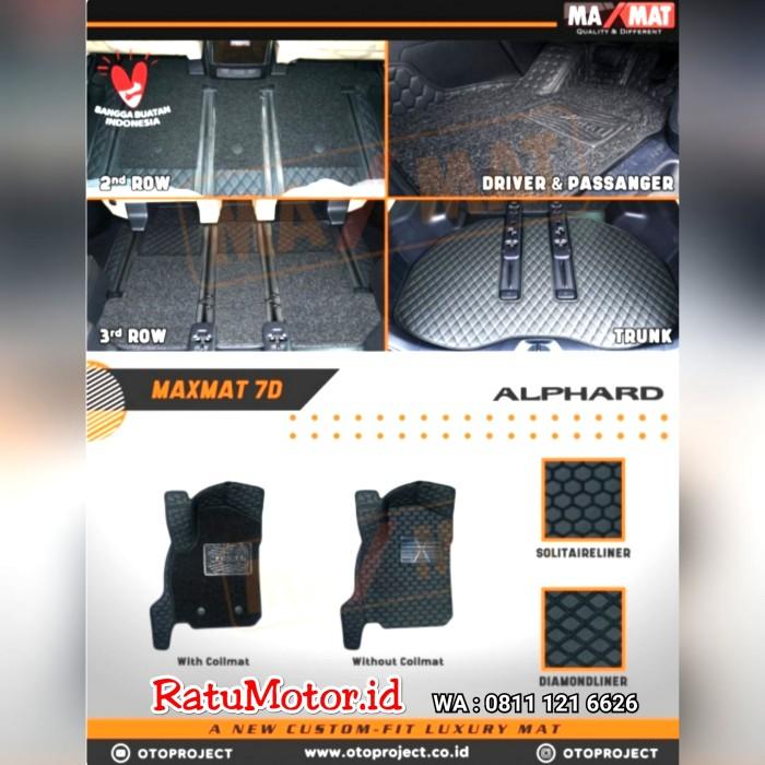Karpet Mangkok MAXMAT 7D Toyota ALPHARD 2018 ATPM Astra Full Bagasi - Bukan 5D 3D
