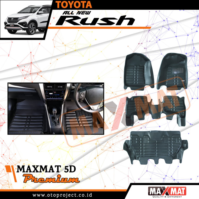 Karpet Mobil Maxmat 5D Premium RUSH 2019 - Karpet Mangkok