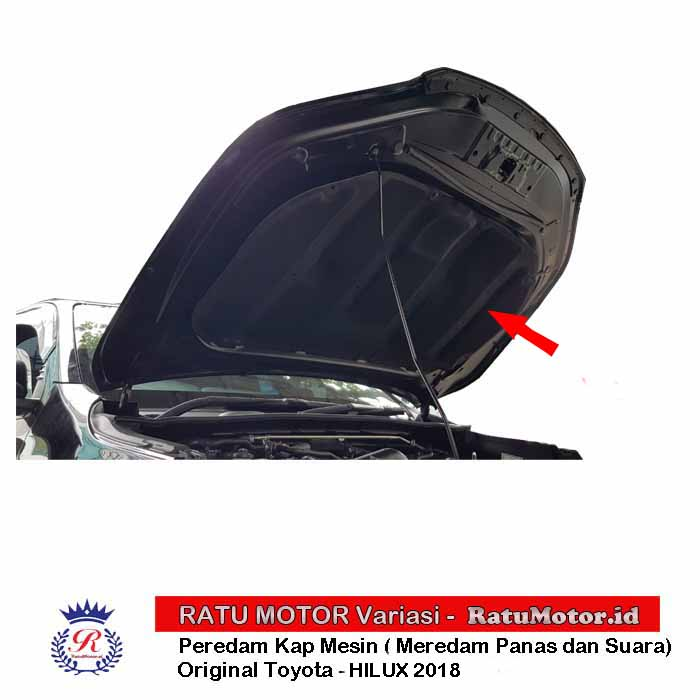 ORIGINAL TOYOTA - Peredam Kap Mesin (Hood Insulator) for HILUX 2018-2020
