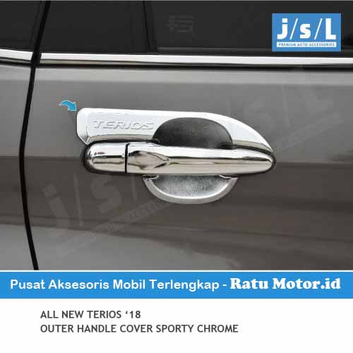 Outer Handle All New TERIOS 2018-2019 Model Sporty Chrome