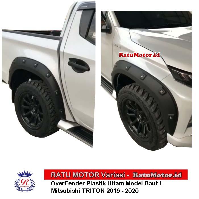 Over Fender Mitsubishi TRITON 2019-2020 Model Baut L Plastik Hitam