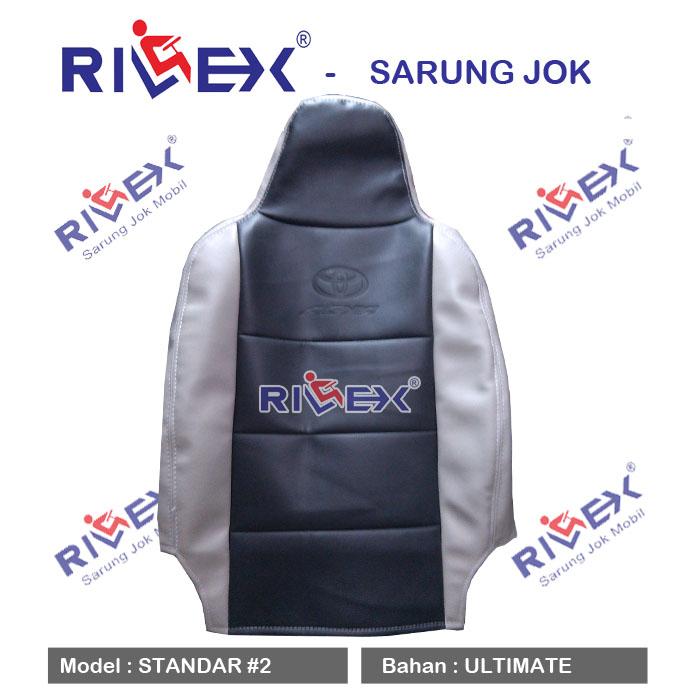 RILEX Ultimate - Sarung Jok Mobil Datsun GO (3 Brs) model Standar (1 & 2 warna) - Bisa Pilih Warna