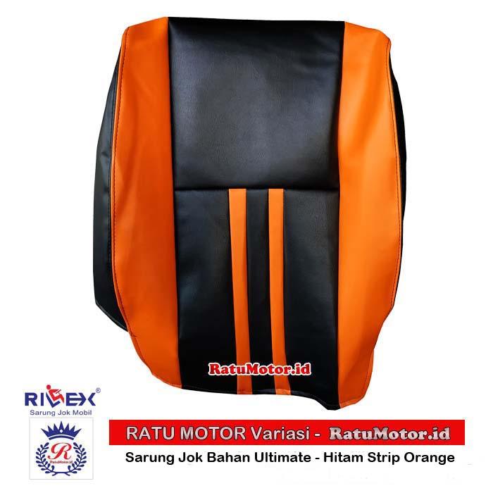 RILEX Ultimate - Sarung Jok Mobil Wuling CORTEZ Warna Hitam Strip