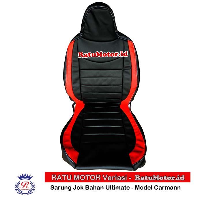 RILEX Ultimate - Sarung Jok Mobil XPANDER Model Carmann Hitam List - Merah (Colour by Request)
