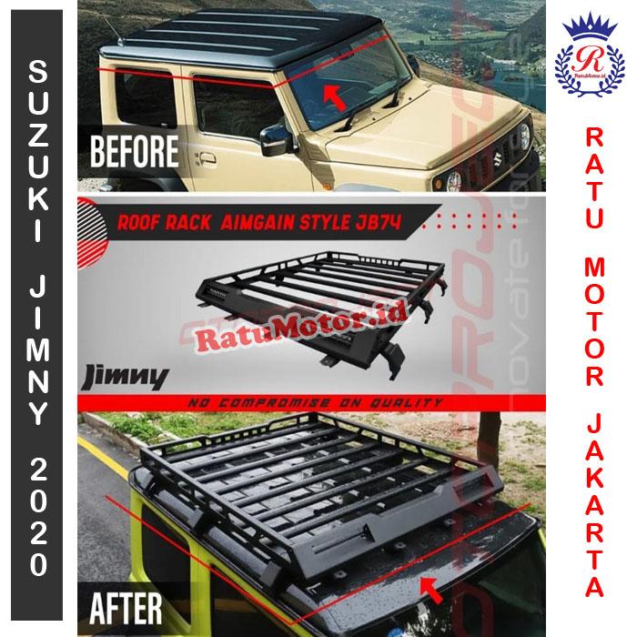 Roof Rack Aimgain Style Suzuki Jimny 2019 Rak Bagasi Roofrack Jb74 Ratumotor Id Pusat Penjualan Aksesoris Mobil Terlengkap Termurah Di Jakarta