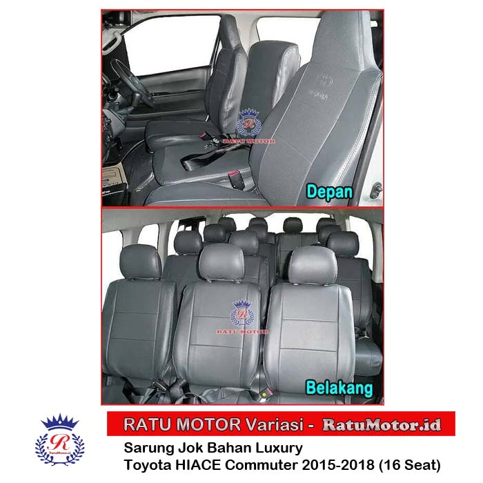 Sarung Jok HIACE Commuter 2015-2018 5 Baris (16 Seats) Bahan Luxury