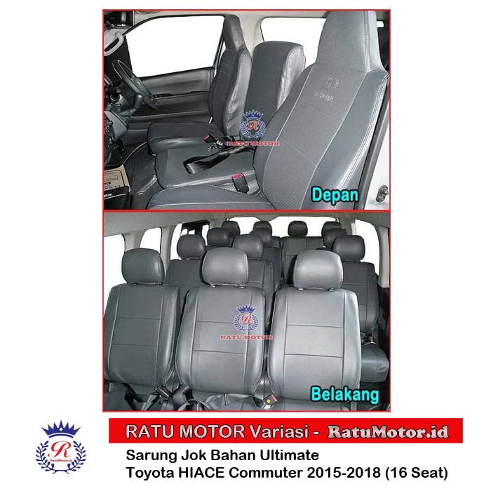 Sarung Jok HIACE Commuter 2015-2018 5 Baris (16 Seats) Bahan Ultimate