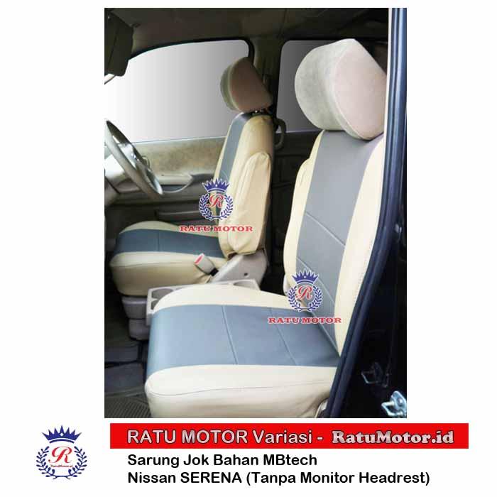 Sarung Jok Nissan SERENA Bahan MB-Tech (Tanpa Monitor Headrest)
