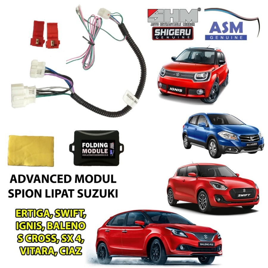SHM Modul AUTO FOLDING Mirror Suzuki IGNIS 2018 - Spion Lipat ASM