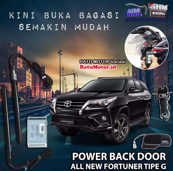 SHM - Power Back Door PBD For Toyota FORTUNER 2016-2019 Tipe G dan SRZ