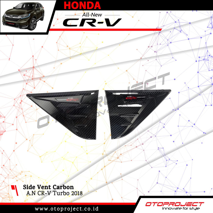 Side Vent Carbon CRV Turbo 2018 - AIR FLOW Ventilation Samping