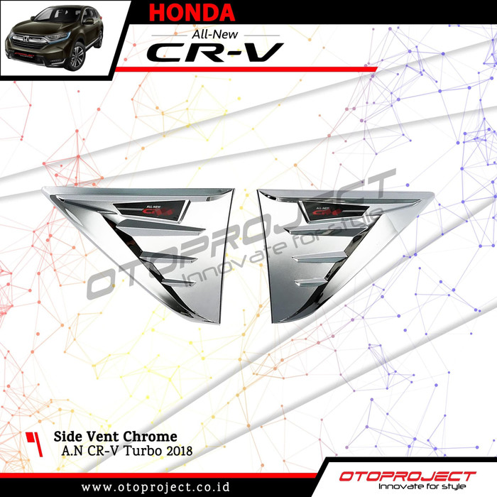 Side Vent CRV Turbo 2018 Chrome - AIR FLOW Ventilation Samping