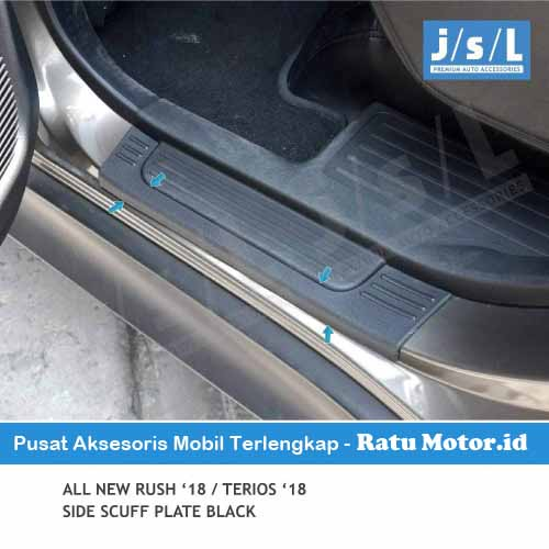 Sill Plate Samping All New TERIOS 2018-2019 model Deluxe Plastik Hitam