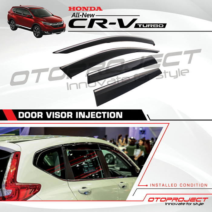 TALANG AIR Honda CRV Turbo 2018 - Side Visor Injection List Chrome