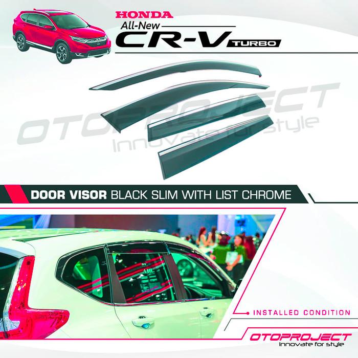 TALANG AIR Honda CRV Turbo 2018 - Side Visor Slim List Chrome
