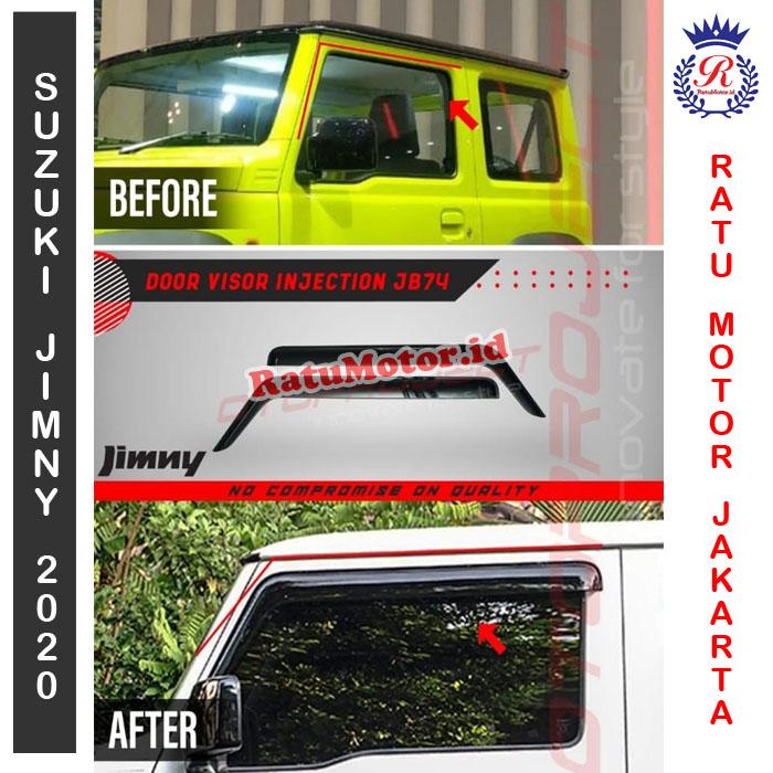 Talang Air Injection Suzuki JIMNY 2019 - Door Visor JB74 (2Pcs)