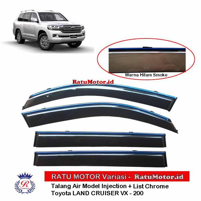 Talang Air Toyota LAND CRUISER VX-200 thn 2009-2019 Model Injection + List Chrome