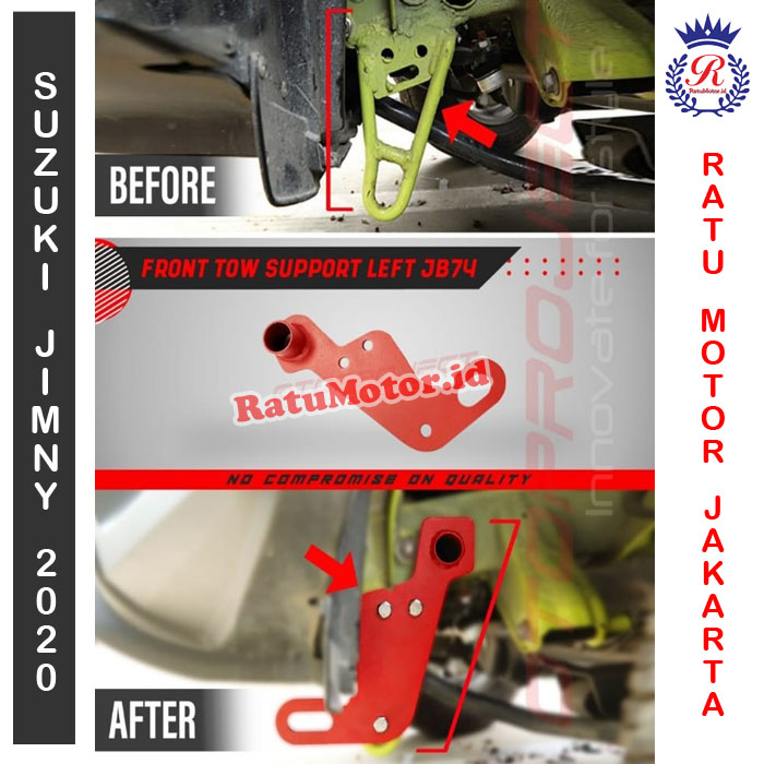 Towing Depan Kiri Suzuki JIMNY 2019 - Front Tow Support Left JB74