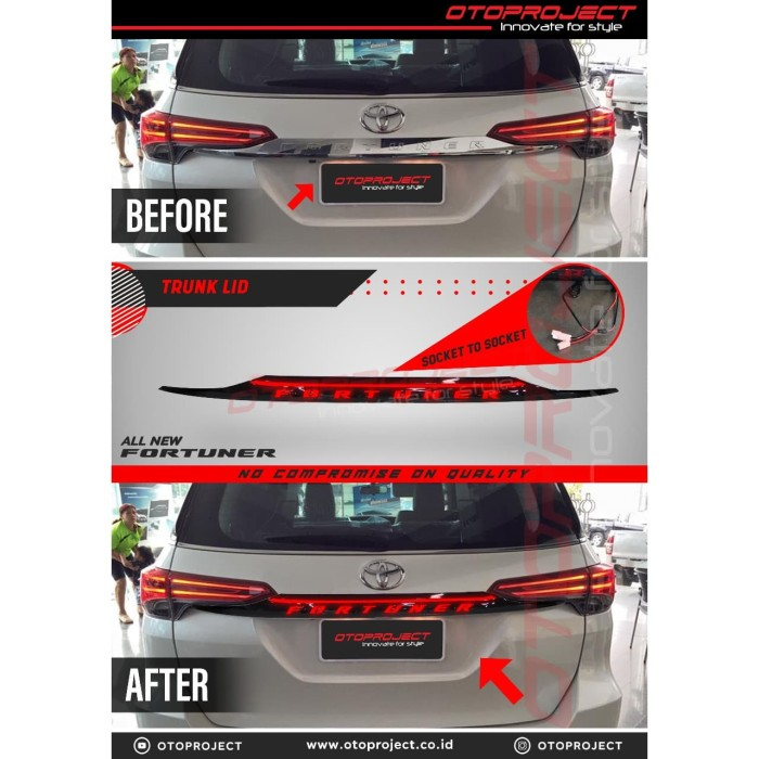 Trunk Lid Belakang LED FORTUNER 2018 - Trunklid with Running Light